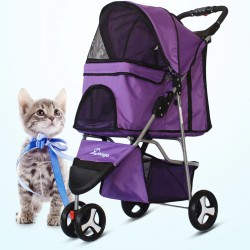 New Pet Stroller Cat Dog...